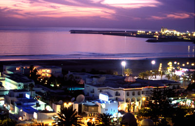 Agadir baie nuit