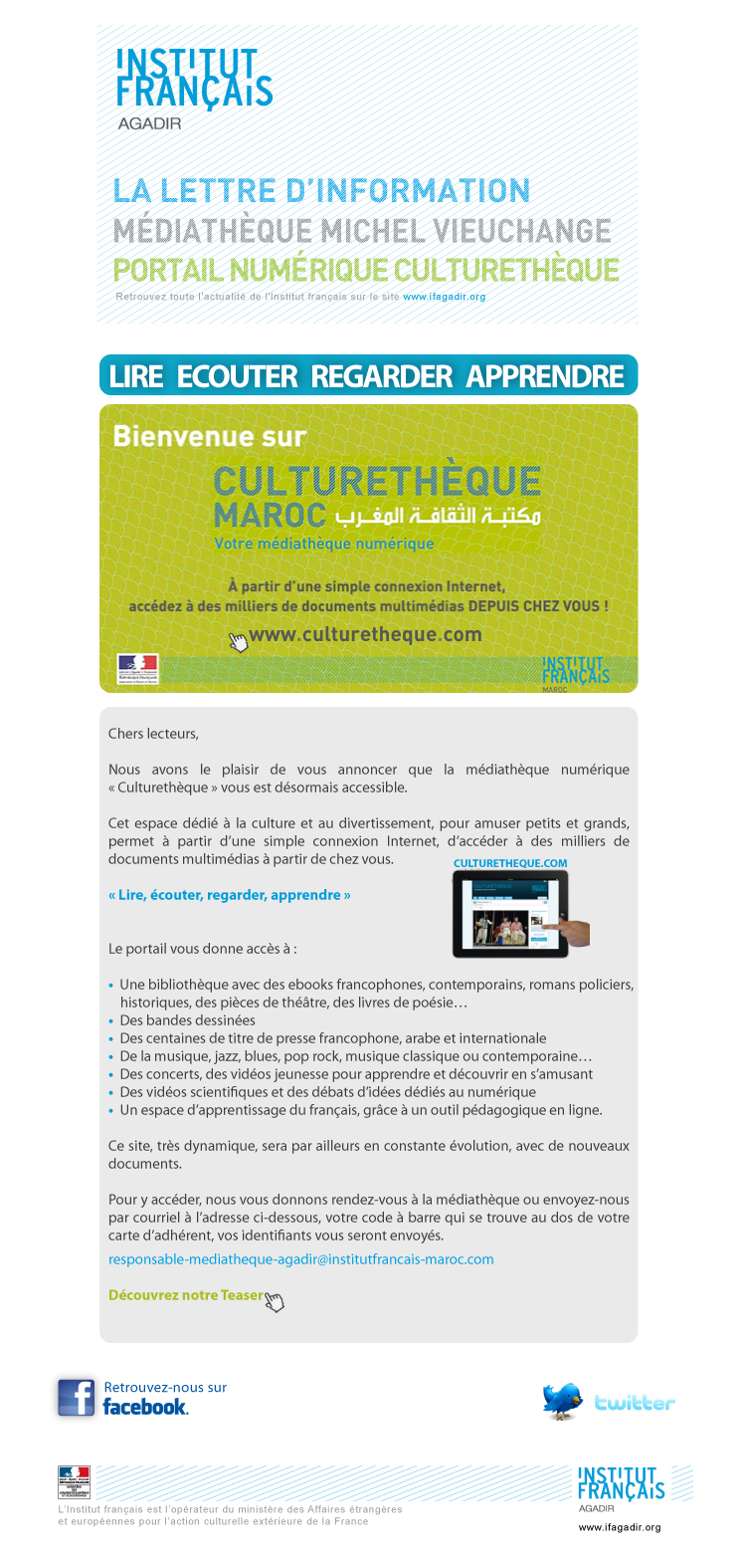 Newsletterculturetheque