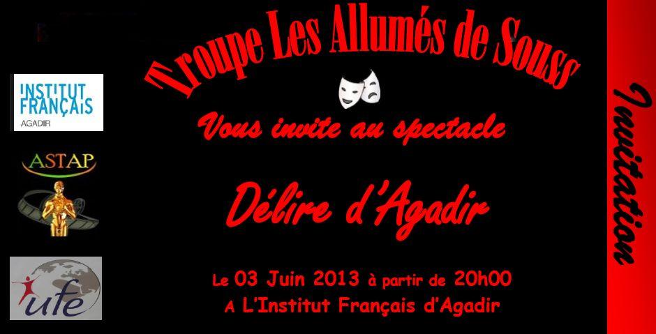 invitation- Délire d'agadir