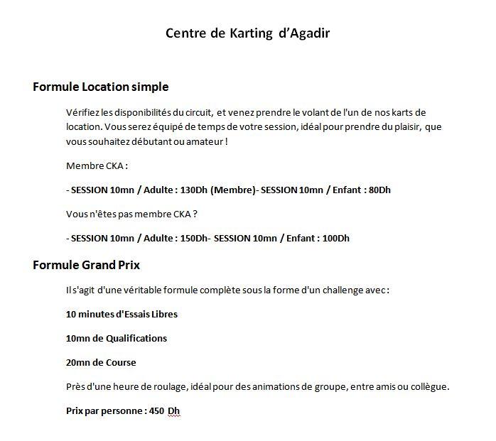 Centre de Karting Agadir