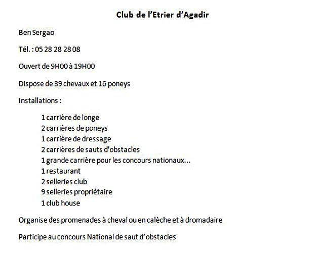 Etrier d'Agadir
