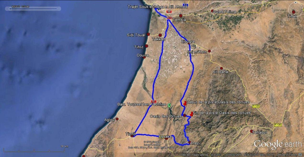 Trajet Souk el Arbaa N Aït Ahmed - Oasis des tortues