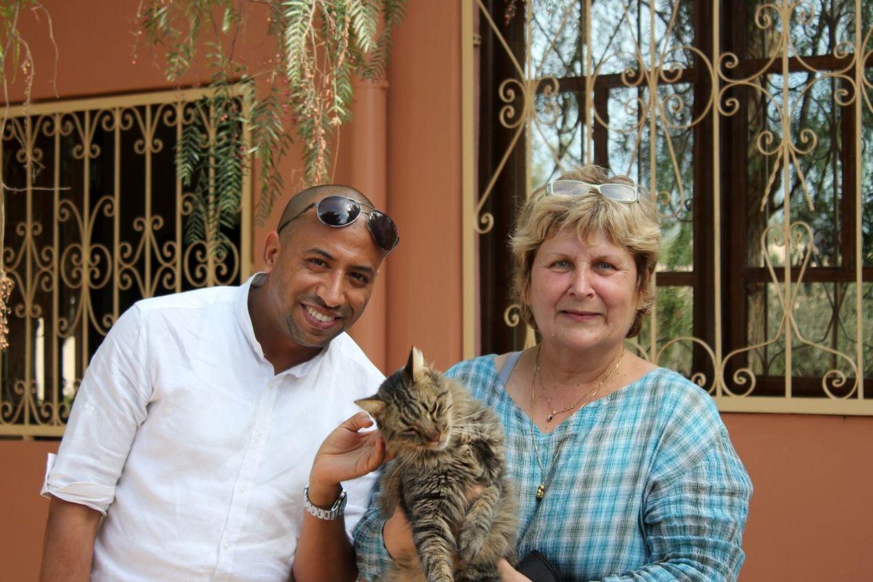Kamal Hafsi, le président de l'Association et Michèle Augsburger