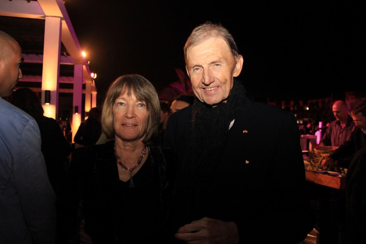 Etienne Mougeotte et sa femme