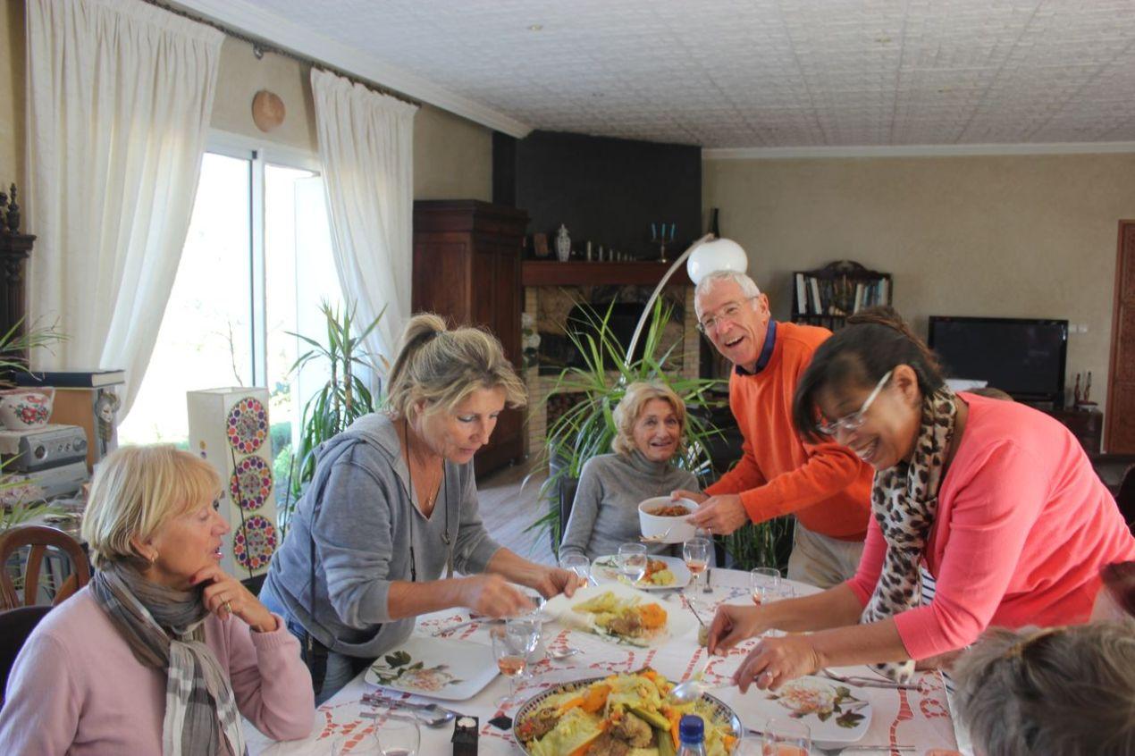 Françoise, Chantal, Nelly, Marc et Fairouz