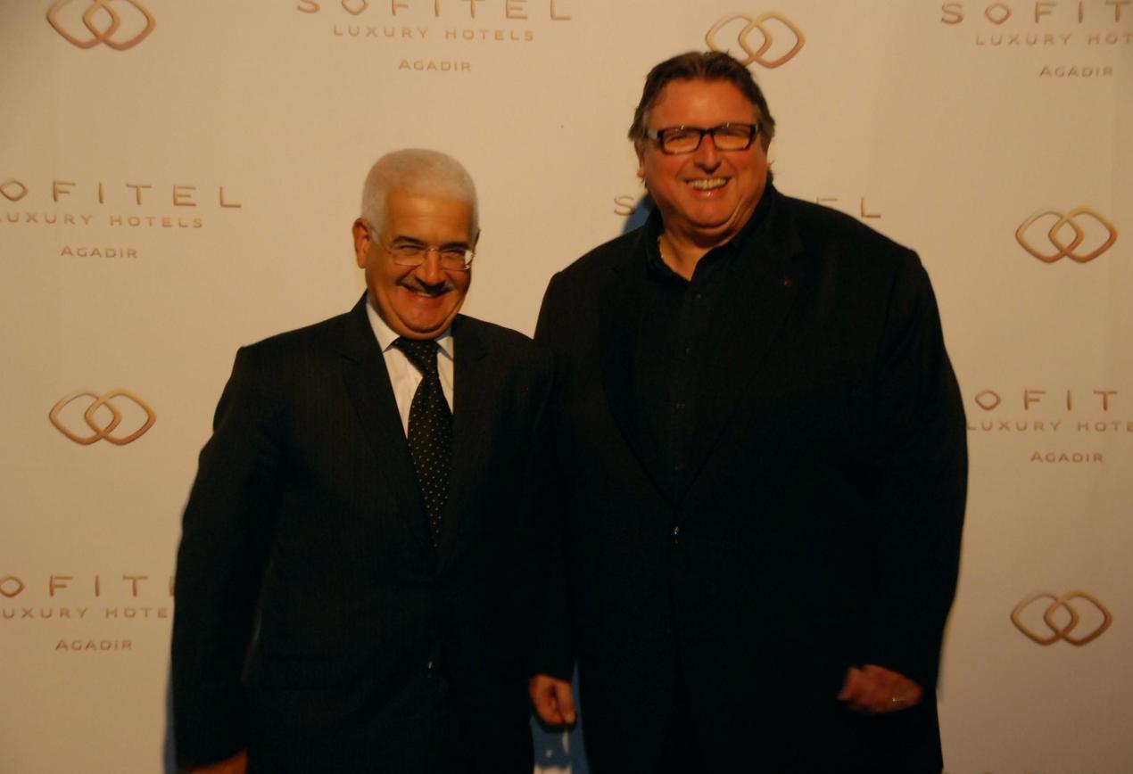 à gauche, Mohamed El Yazid Zellou, Wali d'Agadir