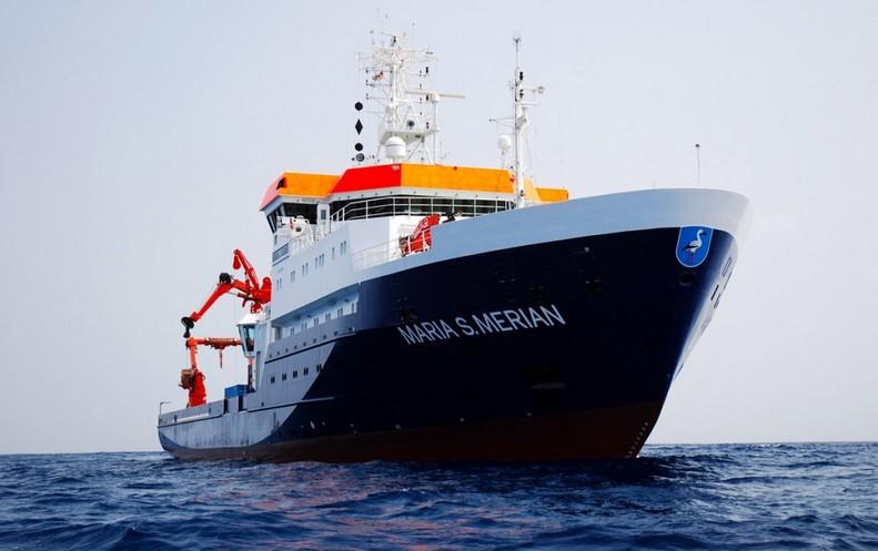 Le navire scientifique allemand Maria S Merian