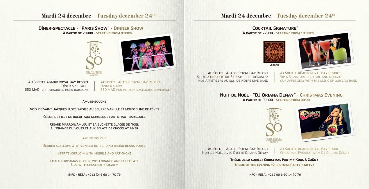 Noël au So Night Lounge Agadir