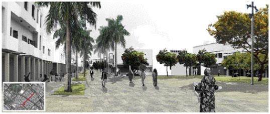 Sur cette maquette, il s'agit de la première tranche du réaménagement du projet Talborjt qui devrait être finalisée dans un délai de huit mois après le démarrage des ouvrages