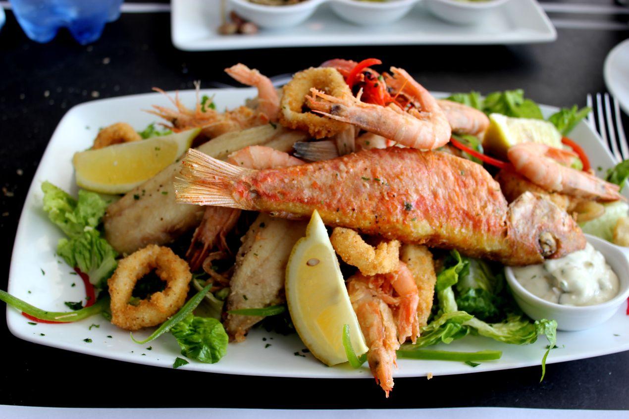 Friture de poissons ( assiette pour une personne ! )