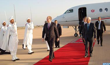 Le wali de la région Souss-Massa-Drâa, reçoit, à Agadir, SAS le prince Albert II de Monaco. Ph : MAP -
