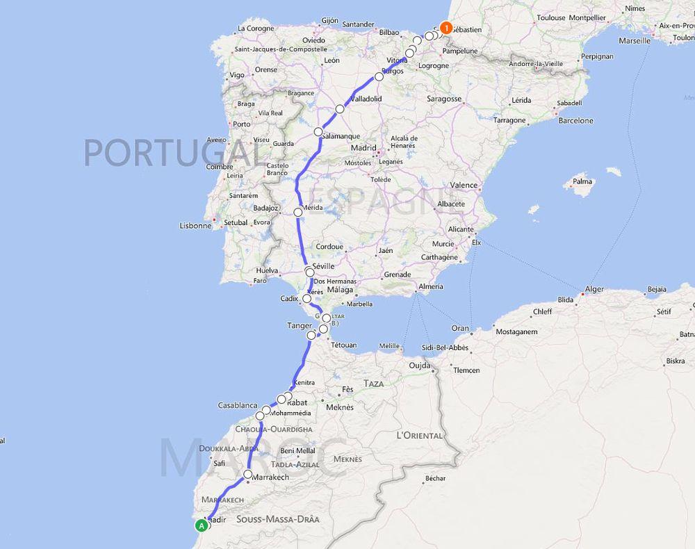 Agadir - Bayonne