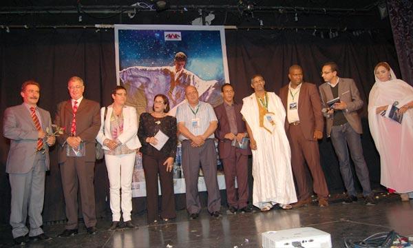 Ouverture à Agadir, du 2e Festival national du théâtre hassani. Il ambitionne de contribuer au développement de la pratique théâtrale au Sahara et d'attirer l'attention sur l'importance de lui accorder davantage d'intérêt. Ph : MAP.