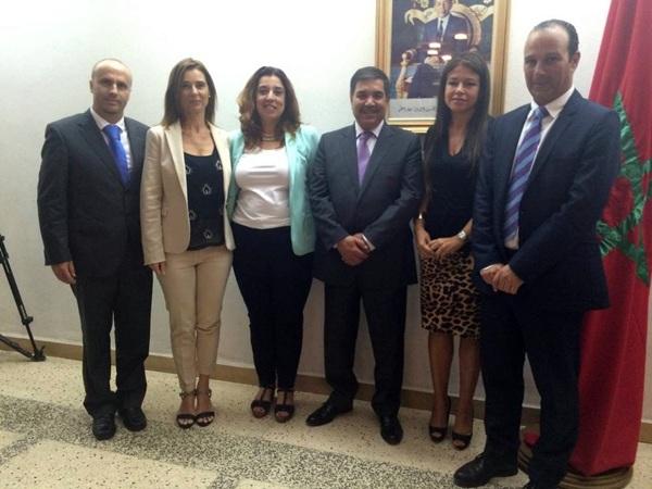 La délégation espagnole de Tenerife à Agadir pour la mise en place des trois projets de coopération.