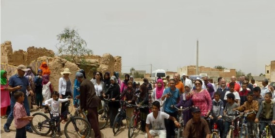 La distribution de vélos à Chtouka Ait Baha