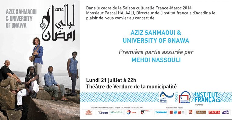 Invitation Sahmaoui &Gnawa