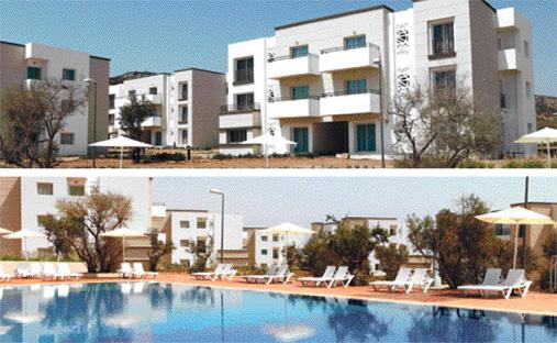 Lunja village, qui s'étend sur 38,5 hectares, a nécessité une enveloppe budgétaire de 800 millions de DH. Il se situe à 30 km au nord d'Agadir sur la route d'Essaouira et jouxte la plage d'Imi Ouaddar, à une dizaine de kilomètres de Taghazout. Il se situe entre mer, montagnes et collines