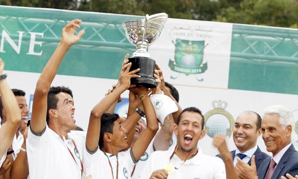 C'est le Royal golf d'Agadir qui s'est adjugé le titre de la Coupe du Trône du golf en battant sur le fil le Royal golf de Marrakech sur le score de 8 à 4. Ph : MAP