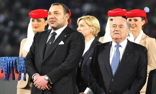 Le roi du Maroc Mohamed VI et Sepp Blatter, le président de la Fifa - Panoramic