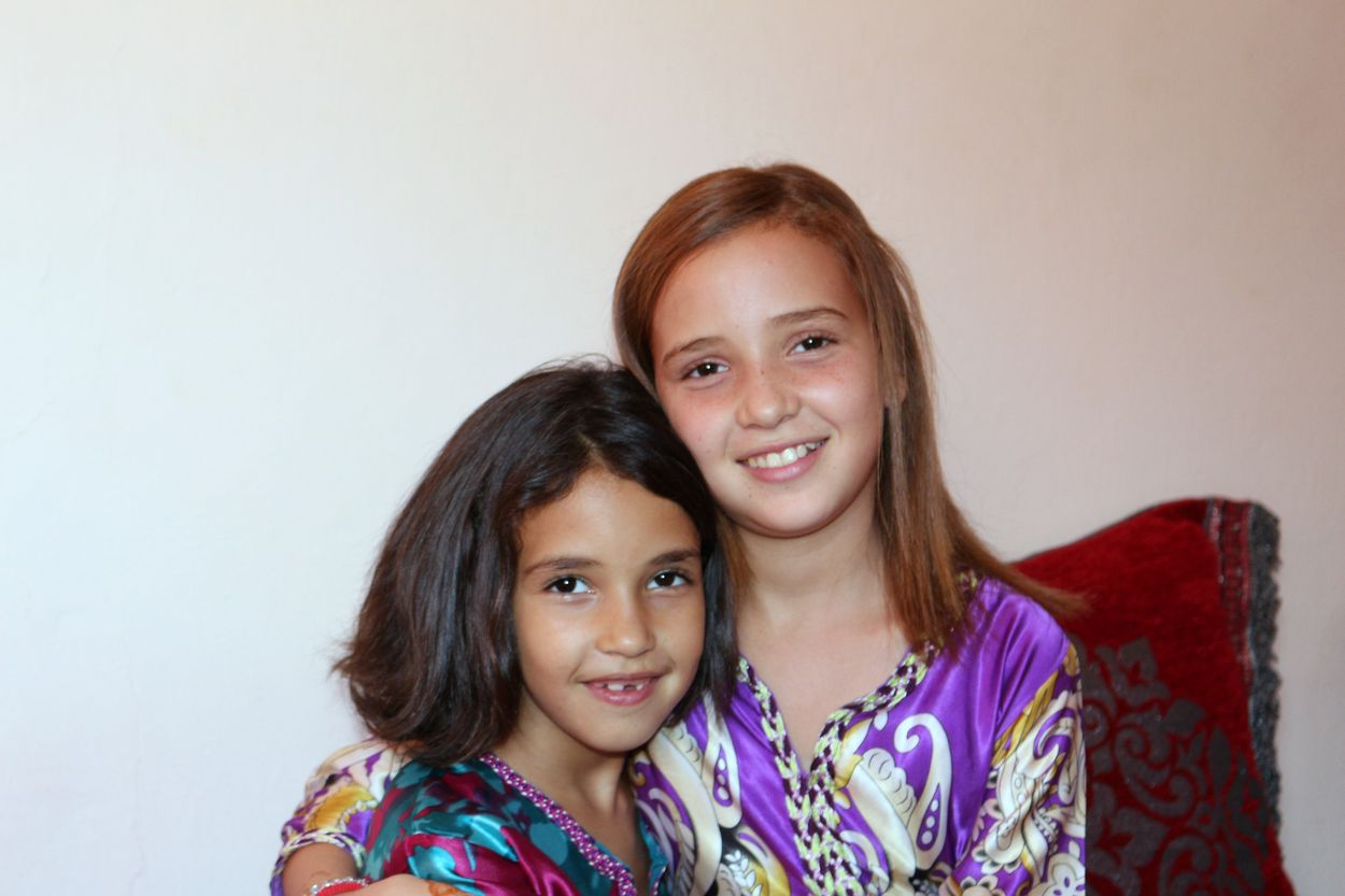 Hajar et Asma après un petit passage chez la coiffeuse