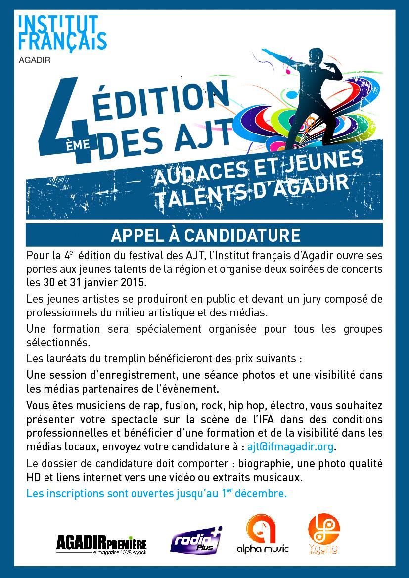 Appel à candidature AJT 2015