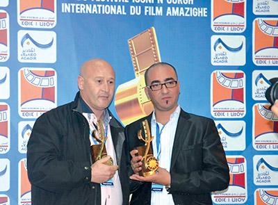 Arezki Oulhadj et Ahmed Mebani lauréats du 8e Festival international du film amazigh d'Agadir (Maroc)