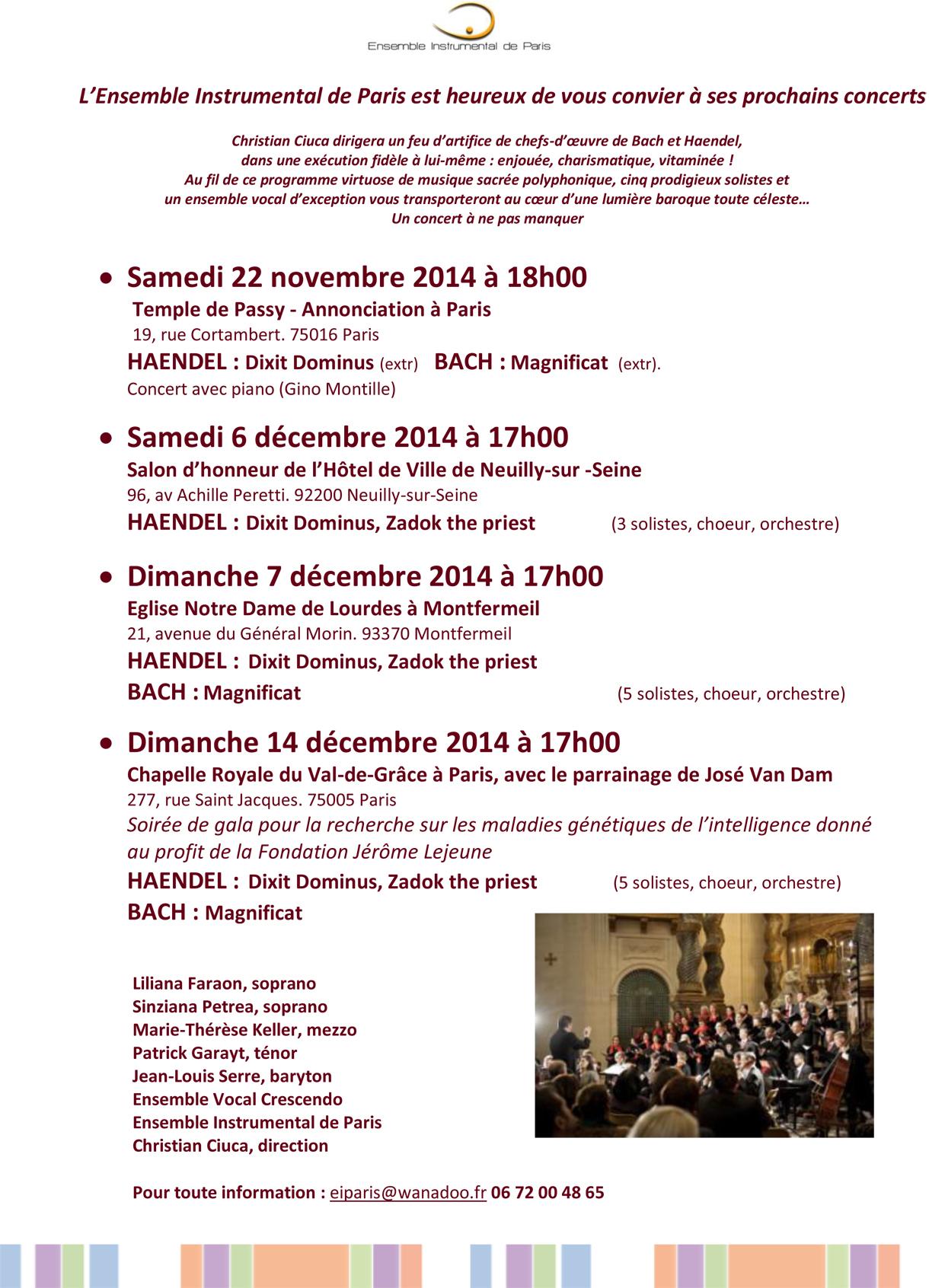 Communiqué Bach-haendel_4 concerts-déc 2014