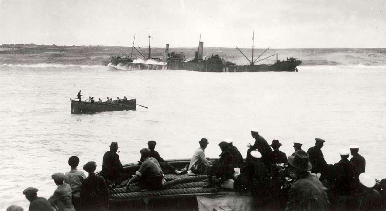 Le cargo à vapeur « Baynyassa SS »