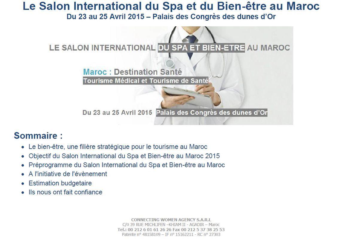 Pr sentation du 2 me salon international du spa et du bien for Presse agrume professionnel maroc