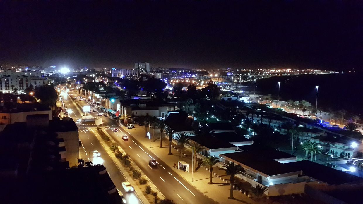 Agadir by night - photo M. Terrier