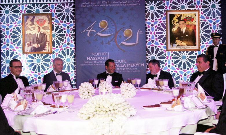 S.A.R. le Prince Moulay Rachid préside à Agadir un dîner officiel offert par S.M. le Roi en l'honneur des invités de la 42e édition du Trophée Hassan II de golf et de la 21e édition de la Coupe Lalla Meryem