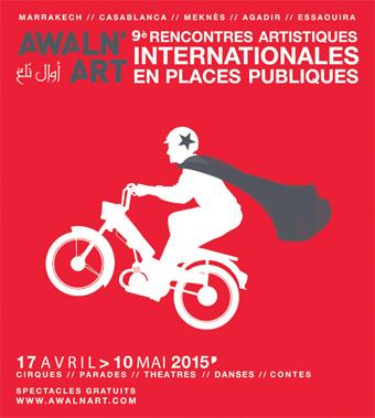 Le festival Awaln'art présente sur les places publiques de 5 villes des spectacles d'artistes venus d'Espagne, Guinée Conakry, France, Congo, Burkina Faso…